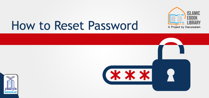 Islamic eBook Library - How to reset the password